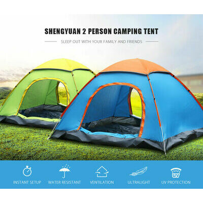 TENT 2-person Instant Outdoor Cabin Easy Setup Camping Family NEW! Rain Proof