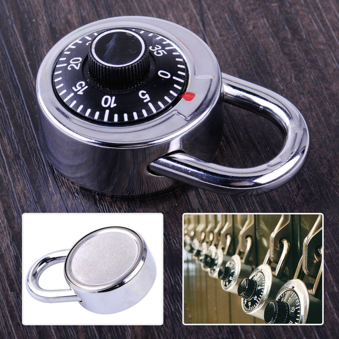 For Dormitory Door Gym Locker 3-Dial Safe Code Lock Combinat