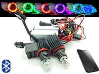 H8 Cree LED Bluetooth Colour Change Angel Eye Halo Rings BMW E60 E61 07-10