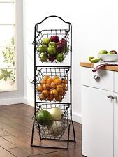 Item 2 Kitchen Market Basket Rack Holder Fruit Vegetable 3 Tier Storage  Stand Display  Kitchen Market Basket Rack Holder Fruit Vegetable 3 Tier  Storage ...