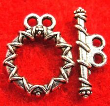 10Sets Tibetan Silver 2 Strand Toggle Clasps Hooks Connectors Findings C067