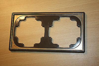 Gira TRIAS Forum 2-fach Rahmen braun metallic mit broncierter Zierkante