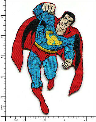 "10 Pcs Embroidered Iron on patches Superman Big Badge 3.54""x5.51"" AP012bM"