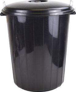 High-Quality-35L-Black-Plastic-Garden-Kitchen-Rubbish-Waste-Bin-Locking-Lid