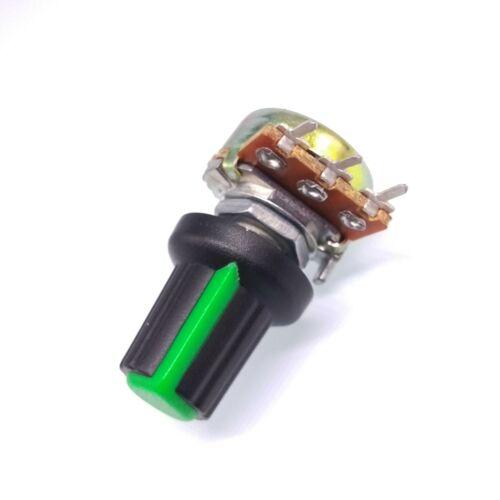 US Stock 10 Units 1K B1K OHM Linear Taper Rotary Potentiometer POT Green Knob