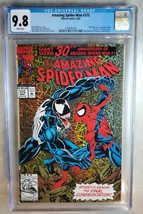Amazing-Spider-Man-375-Holo-grafx-Venom-Marvel-1993-CGC-9-8-WP-Comic-M0079