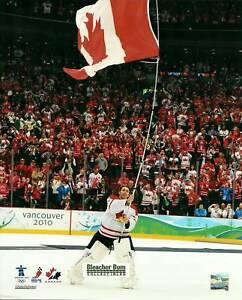 Details About Roberto Luongo Canada Flag 8x10 Hockey Olympics Photo