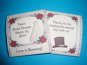 image is loading 12 wedding bridal shower tea bag wrapper favors