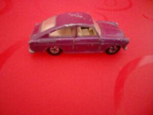 Vintage Matchbox car No 67 Volkswagen 1600 TL,purple