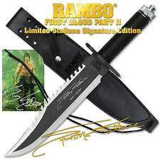 Super RAMBO FIRST BLOOD PART II Sylvester Licensed Signature Stallone Knife 406