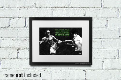 12X8 INCH ISRAEL ADESANYA QUOTE PHOTO PRINT POSTER PRE SIGNED A4