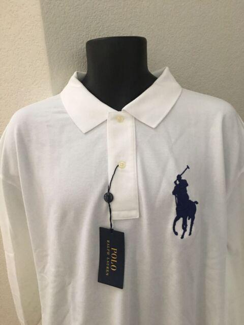 31cd0798534d51 Polo Ralph Lauren Men's Big & Tall Classic Fit Cotton Mesh Polo Shirt 3XB  White