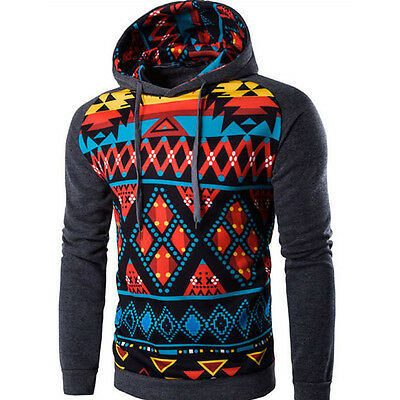 Mens Winter Hoodie Warm Drawstring Hooded Sweatshirt Coat Jacket Outwear Sweater