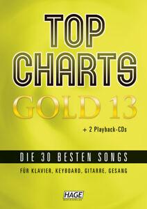 mit 2 CDs Hage EH 3966 Top Charts Gold 12 1 Bleistift mit Musikmotiv