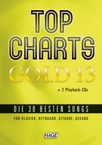EH 3975 /% HAGE TOP CHARTS GOLD 13 ★ SONGBOOK ★ mit 2 CDs Noten Songbuch