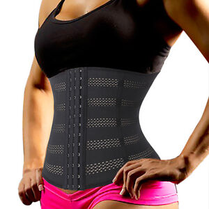 83a4d02a03d00 Image is loading Women-Breathable-High-Waist-Trainer-Cincher-Corset-Body-