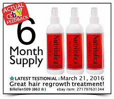 Our Best Product: NUTRIFOLICA 6 month HAIR LOSS GROWTH GROW REGROWTH TREATMENT