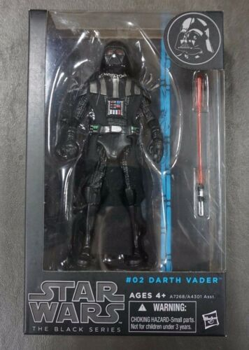 "Dark Vador Star Wars The Black Series 6/"" Figure Authentique #02 02"