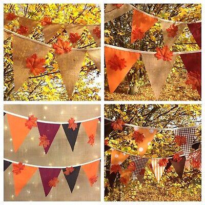 Autumnal Bunting autumn winter wedding party claret brown orange from 1 metre