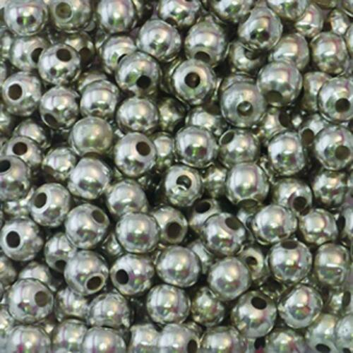 French Silver Plated Brass Beads for Crafts /& Jewelry Making 8mm 6mm