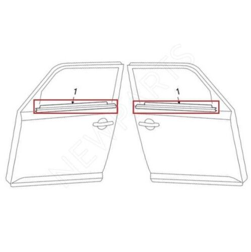 For Scion xB 2008-2015 Set Of Front Left & Right Door Belt Molding Assembly OES