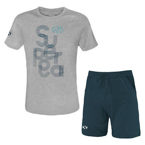 Completo-Uomo-SUPERGA-Cotone-T-Shirt-Pantaloncino-Art-411