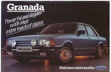 Ford Granada Ghia X Executive Mk 2 original colour Postcard 1984 Pub. No. SP 182