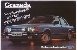 Ford-Granada-Ghia-X-Executive-Mk-2-original-colour-Postcard-1984-Pub-No-SP-182