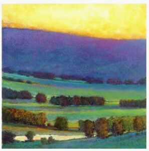 Ken-Elliott-27-5-8-034-Giclee-SUNSET-WITH-BLUE-AND-GREEN-Signed-Number-Ltd-Edition