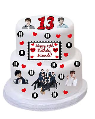 BANGTAN BOYS BTS Edible image personalized DIY CAKE KIT ...