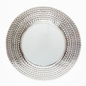 Stainless steel in silver finish frame round wall mirror Stainless steel framed bathroom mirrors