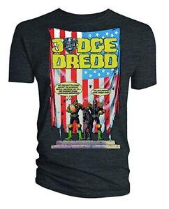 100-Official-Merch-2000AD-Comics-T-SHIRT-Top-JUDGE-DREDD-Crimes-Against-America