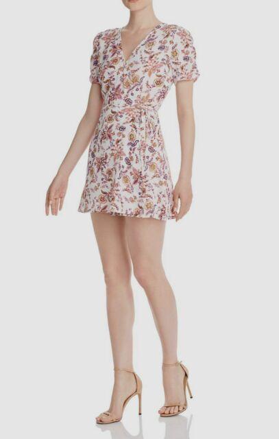 Aqua Womens Floral Short Daytime Wrap Dress BHFO 6316