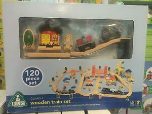 Elc Early Learning Centre Wooden City Train Set New Ebay