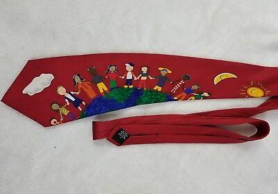 SAVE THE CHILDREN CHILD ART NECKTIE for perei.larr