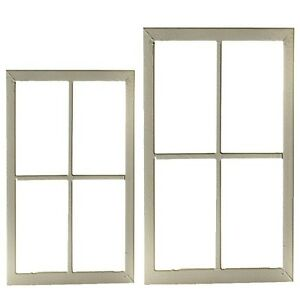 deko fenster holz wei 1sposse fensterrahmen 2 gr en 50x35cm oder 60x40 cm ebay. Black Bedroom Furniture Sets. Home Design Ideas