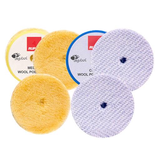 "RUPES BigFoot Wool 5.75/"" Orbital Polishing Pad Mix /& Match 6 Pack"
