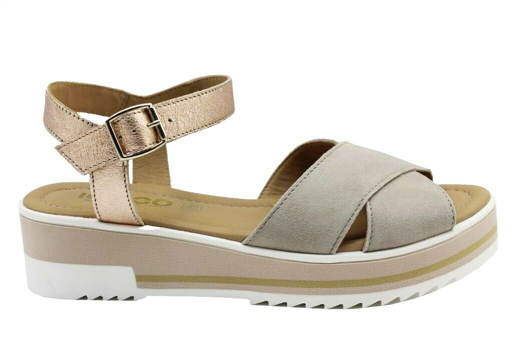 Igi and co 3191922 taupe comfortable shoe low wedge sandals women