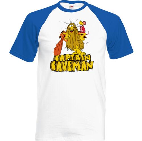 Captain Caveman T-Shirt Mens Retro Animated 80/'s TV Show Program Top