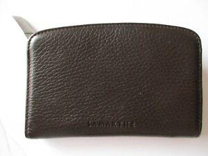 meilleur service b2f13 7a6d7 Détails sur Porte-monnaie Lamarthe marron foncé cuir grainé13,50 cm x  ~9,50cm x ~1,50/2,00cm