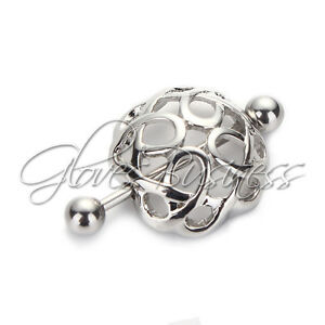 1 Pair Jewelry Surgical Steel Nest Nipple Shields Bar Navel Ring Body Piercing