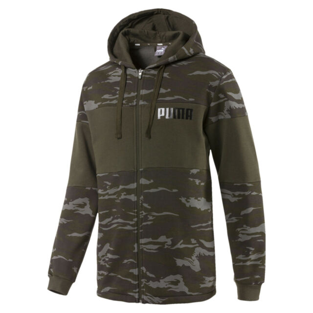 PUMA Camo Full Zip Hoodie Men Sweat Basics