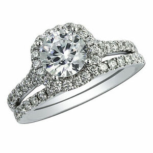 Round-Cut-2-20-Ct-Diamond-Wedding-Band-White-Gold-Finish-Proposal-Ring-Size-H