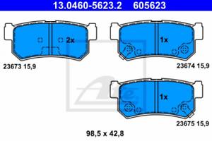 Bremsbelagsatz-Frein-a-Disque-pour-dispositif-de-freinage-Essieu-arriere-UAT-13-0460-5623-2