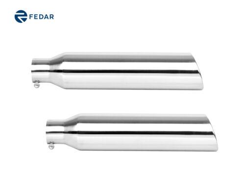 "Fedar Inlet Exterior 2.5/""; Outlet 4/""; Length 18/"" Exhaust Tip 2-pack"