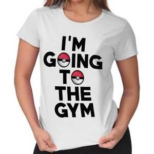 Im-Going-To-The-Gym-Pokemon-Go-Nintendo-Gamer-Funny-Gift-Cool-Ladies-Tee-Shirt-T