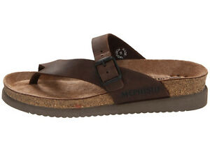 a40469a7268 Image is loading Mephisto-Helen-Dark-Brown-Scratch-Oiled-Comfort-Sandal-
