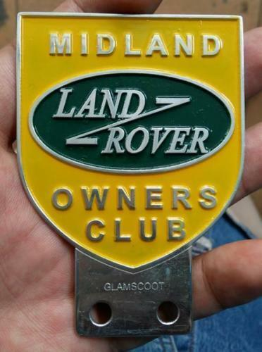 Land Rover Owners ASSOCIATION Club Series 1 2 2a 3 MIDLAND  Badge VINTAGE SALE