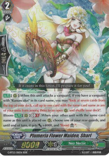CARDFIGHT VANGUARD CARD G-BT12//011EN RRR PLUMERIA FLOWER MAIDEN SHARL