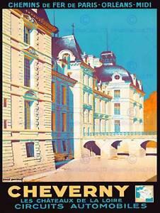 Viaje-Cheverny-Francia-Chateau-Castillo-Loire-Castillo-impresionante-Poster-Print-BB7476B
